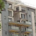 Building balconies collapse