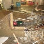 Work site inundation