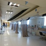 Celling collapse in a hospital