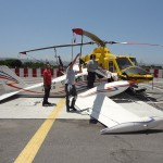 Aviation accident between a plane and helicopter